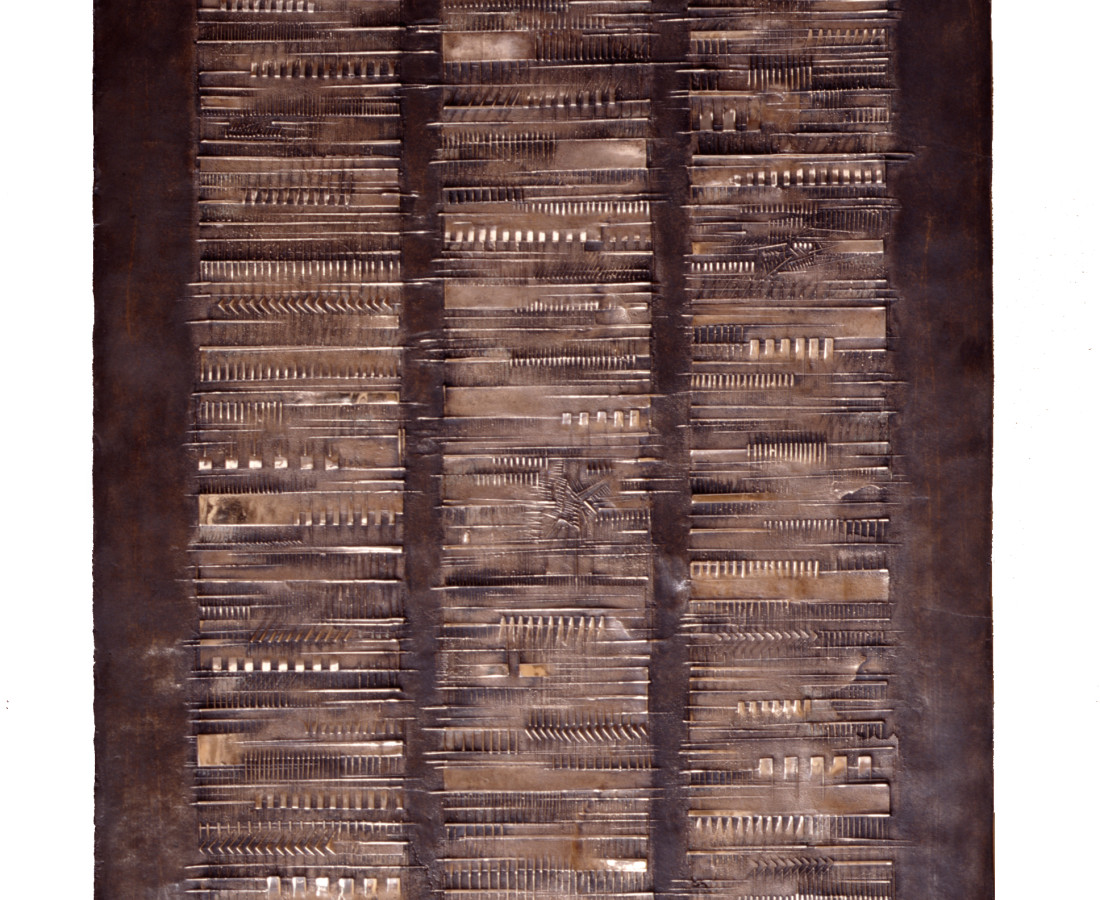 Arnaldo Pomodoro, Cronaca 6: Francesco Leonetti, 1976