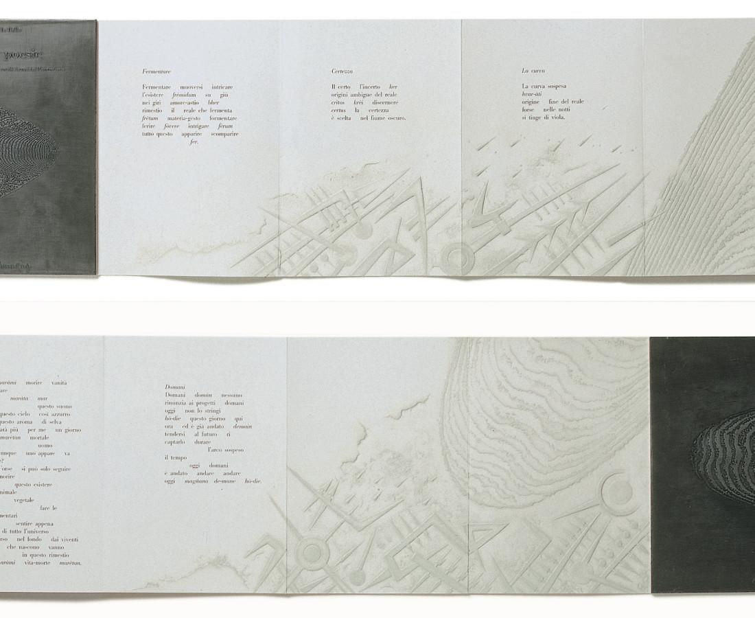 Arnaldo Pomodoro, Sette poesie di Guido Ballo, Un pensiero visivo di Arnaldo Pomodoro, 1991