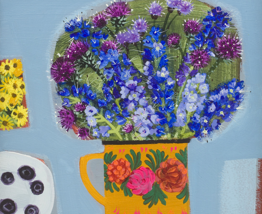 Emma Dunbar, Blueberries and Blue Flowers