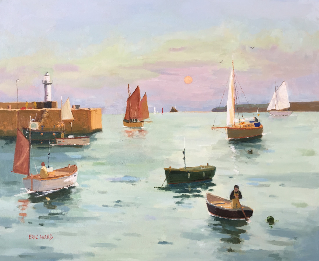 Eric Ward (b.1945), An early summer morning at St Ives Harbour