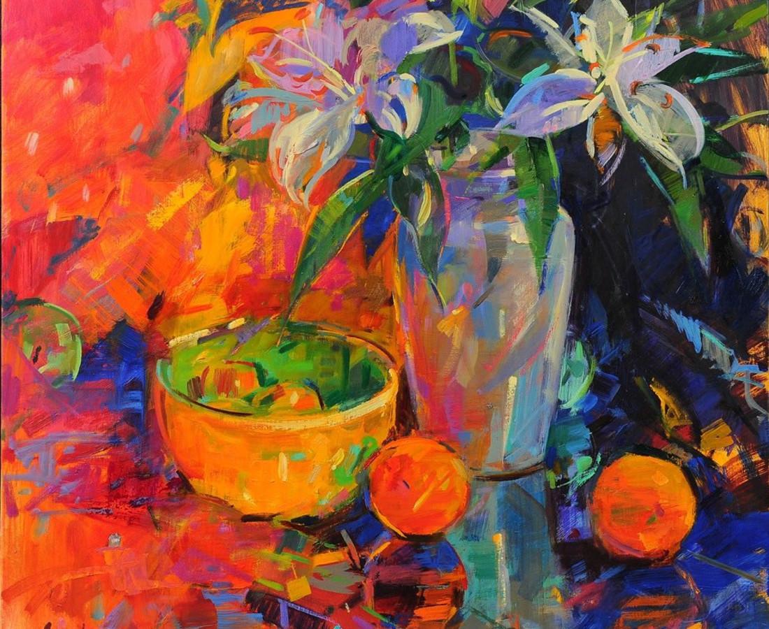 Peter Graham, Still Life Lilies
