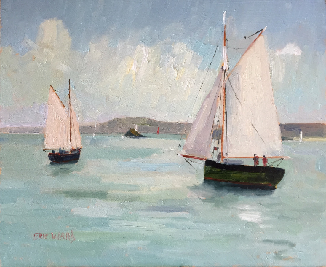 Eric Ward (b.1945), Almost becalmed in St Ives Bay