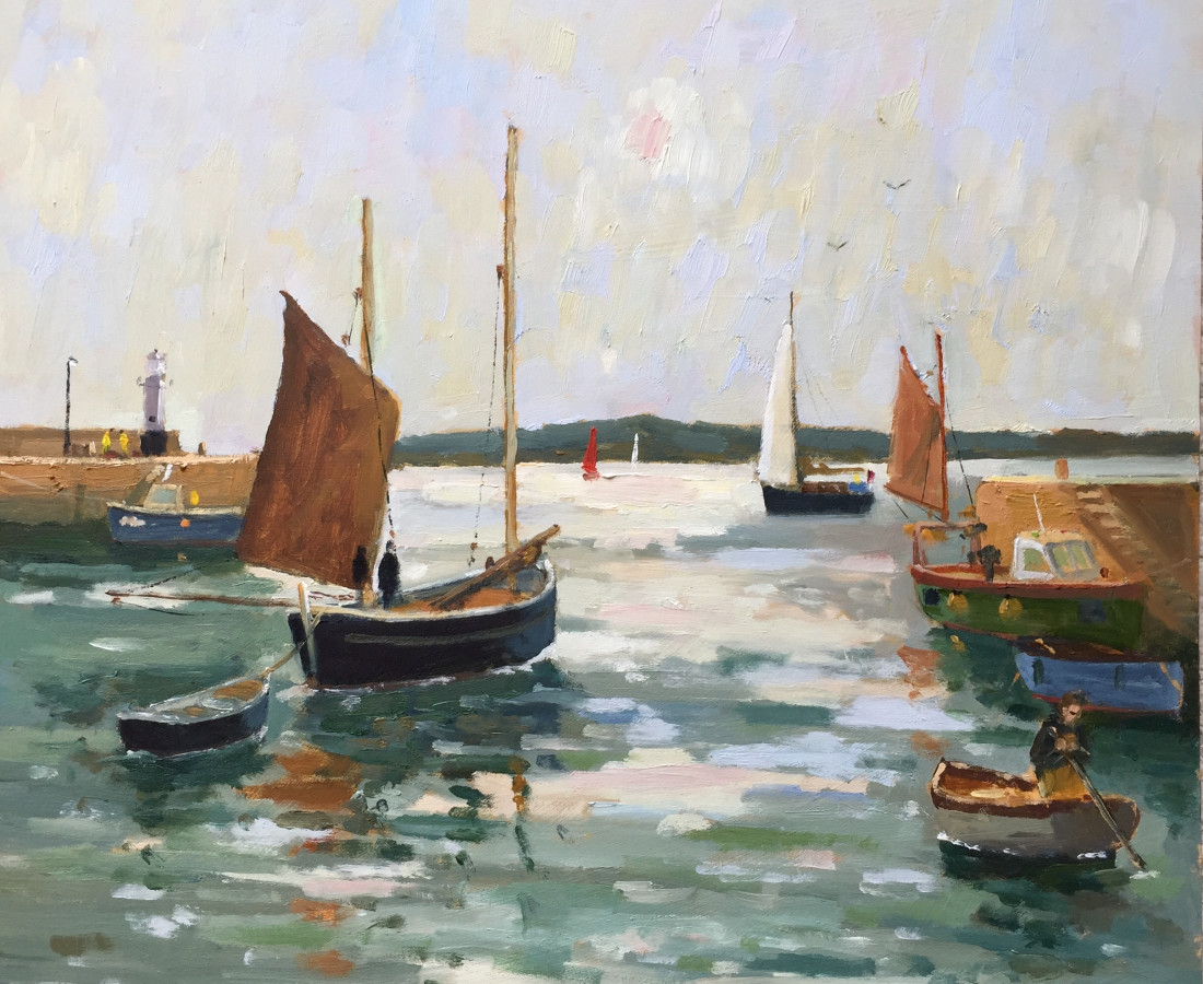 Eric Ward (b.1945), Mid morning at St Ives Harbour
