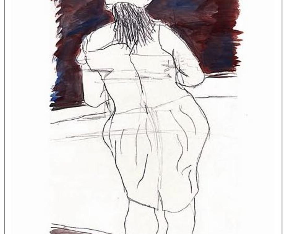 <span class=&#34;artist&#34;><strong>Bob Dylan</strong></span>, <span class=&#34;title&#34;><em>Woman In Red Lion Pub  (white)</em>, 2008</span>