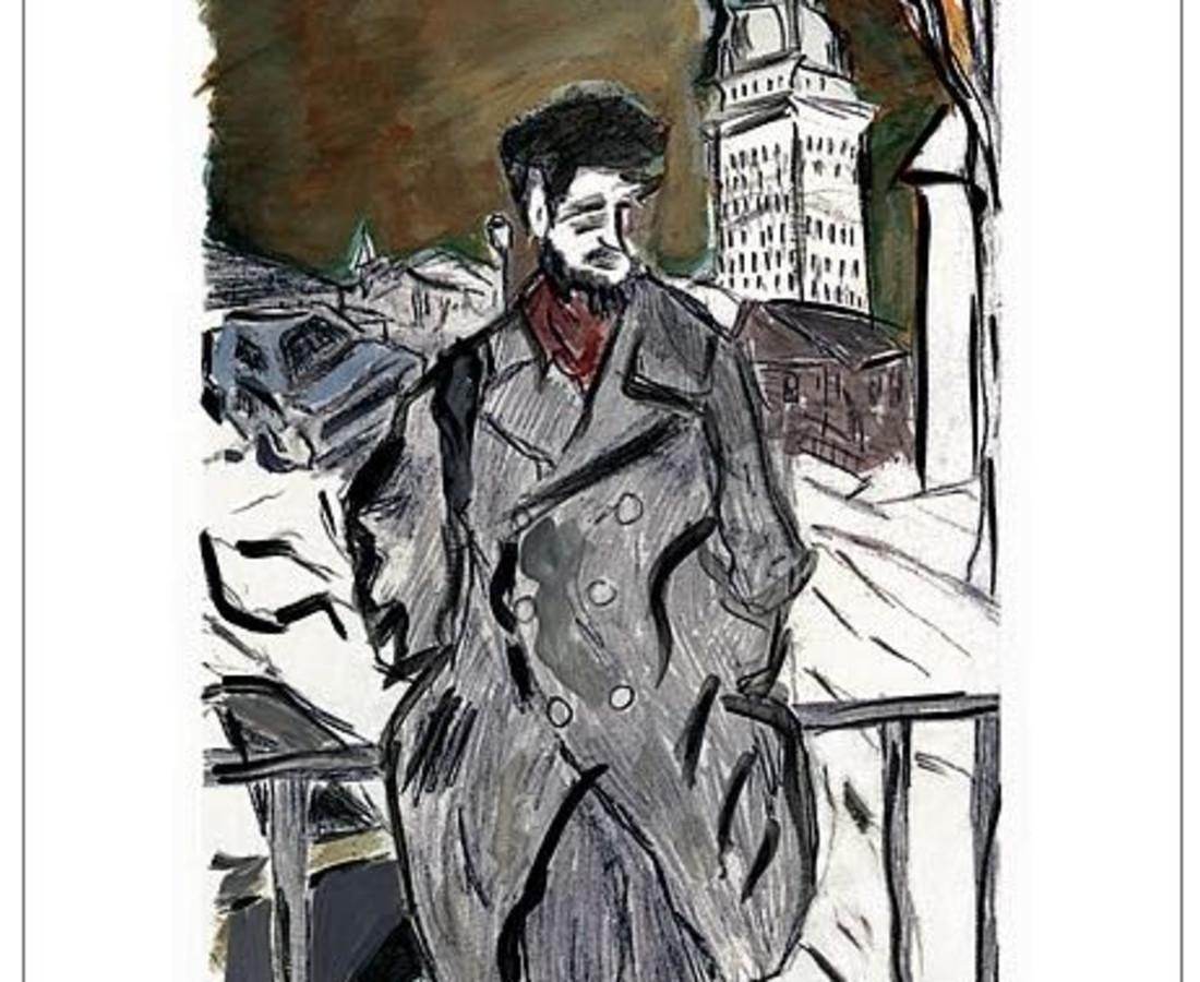 <span class=&#34;artist&#34;><strong>Bob Dylan</strong></span>, <span class=&#34;title&#34;><em>Man On A Bridge (grey)</em>, 2008</span>