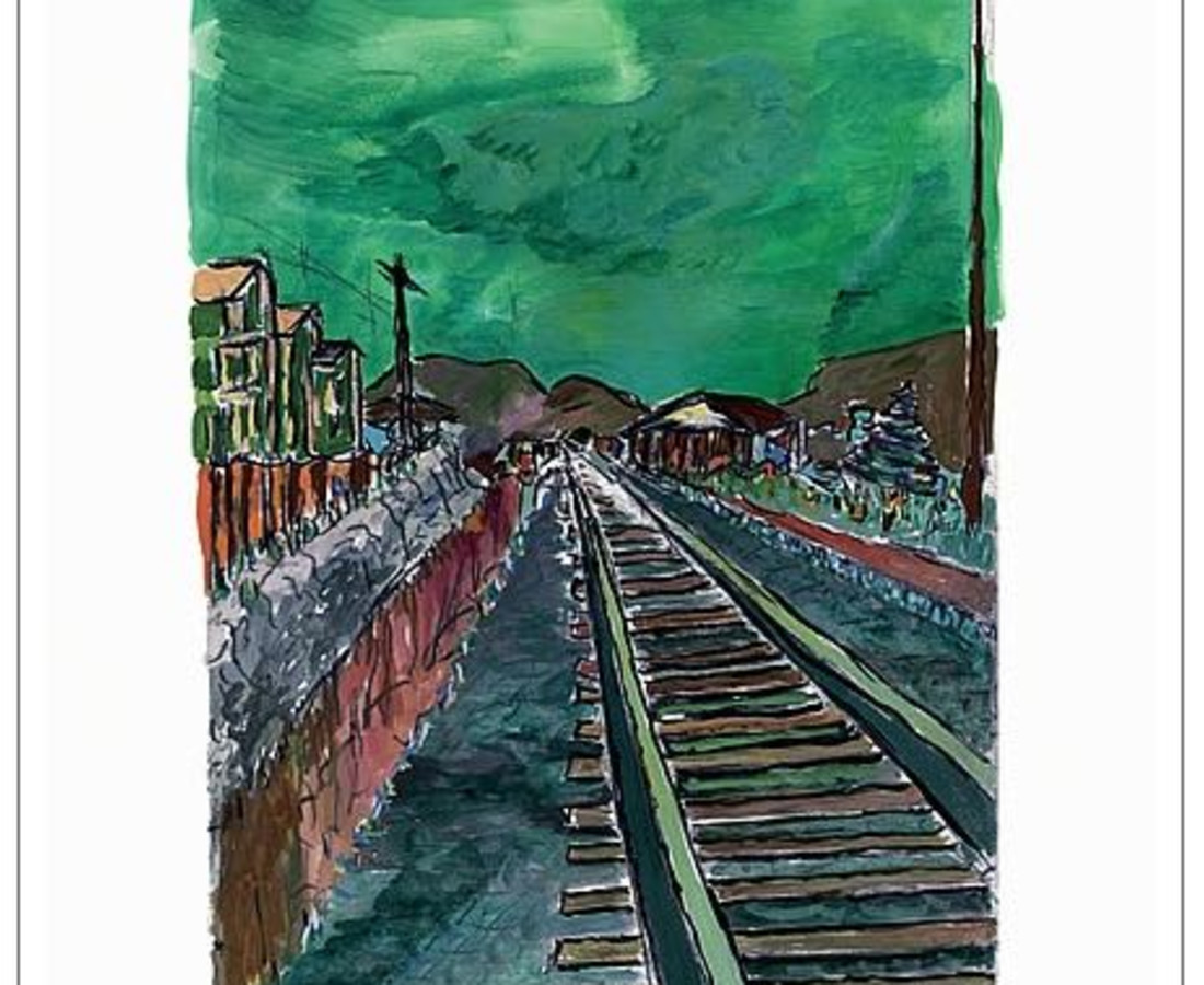 Bob Dylan, Train Tracks (green), 2008