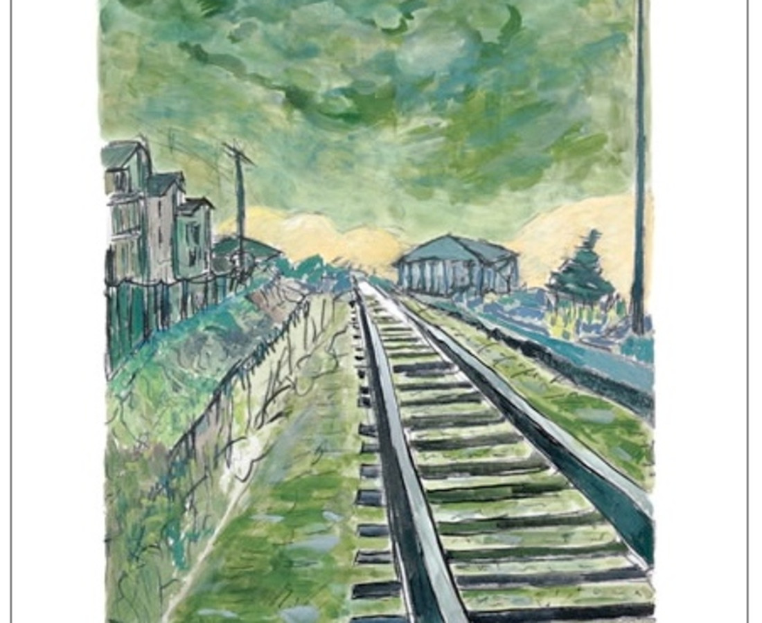Bob Dylan, Train Tracks (green - medium format), 2012