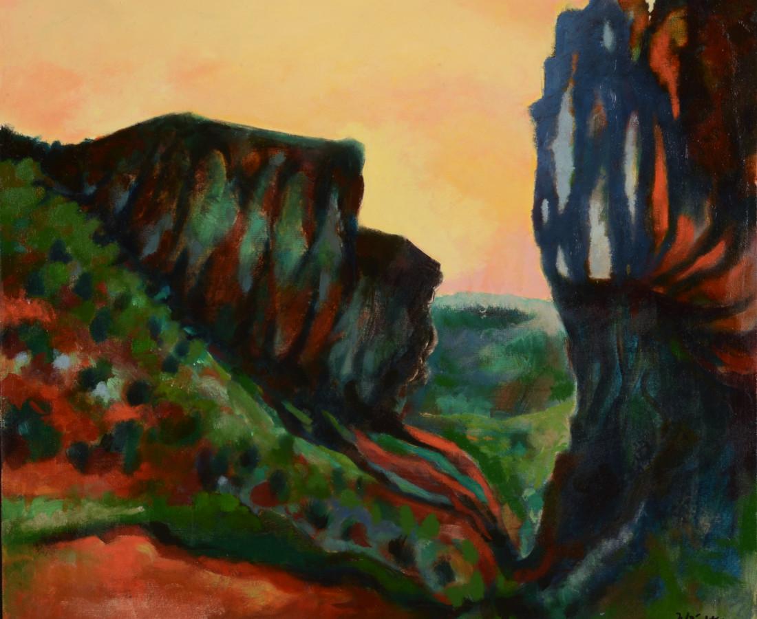 <span class=&#34;artist&#34;><strong>Michael Wright</strong></span>, <span class=&#34;title&#34;><em>Diablo Canyon VII</em>, 2017</span>