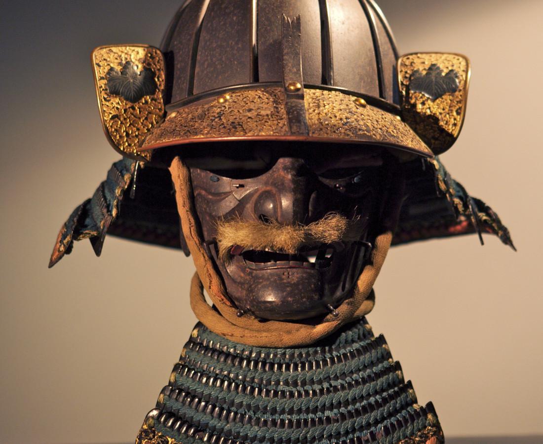 <span class=&#34;artist&#34;><strong>Samurai Arts</strong></span>, <span class=&#34;title&#34;><em>Heavy 8 plate samurai helmet and mask</em>, c.1600</span>