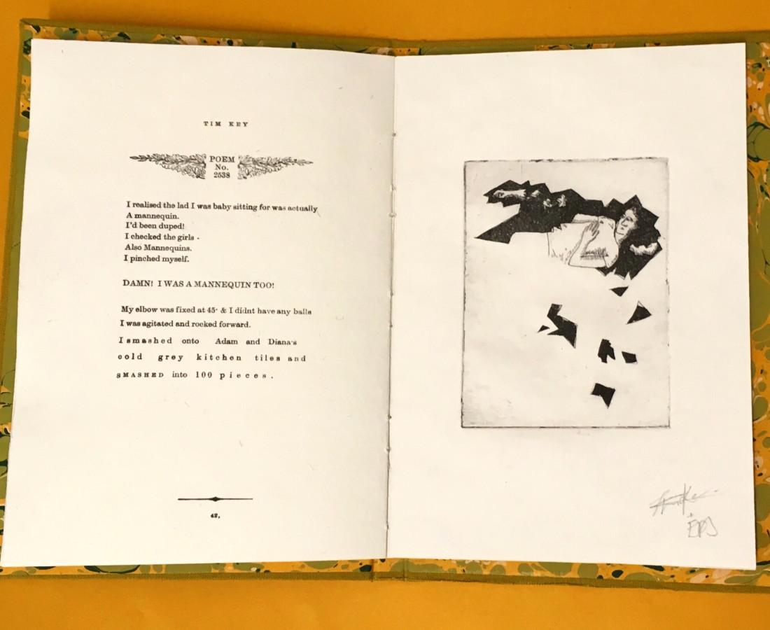 Tim Key Poem No. 2538, 2019 Letterpress, etching & aquatint 39 x 31.5 cm 15 3/8 x 12 3/8 in