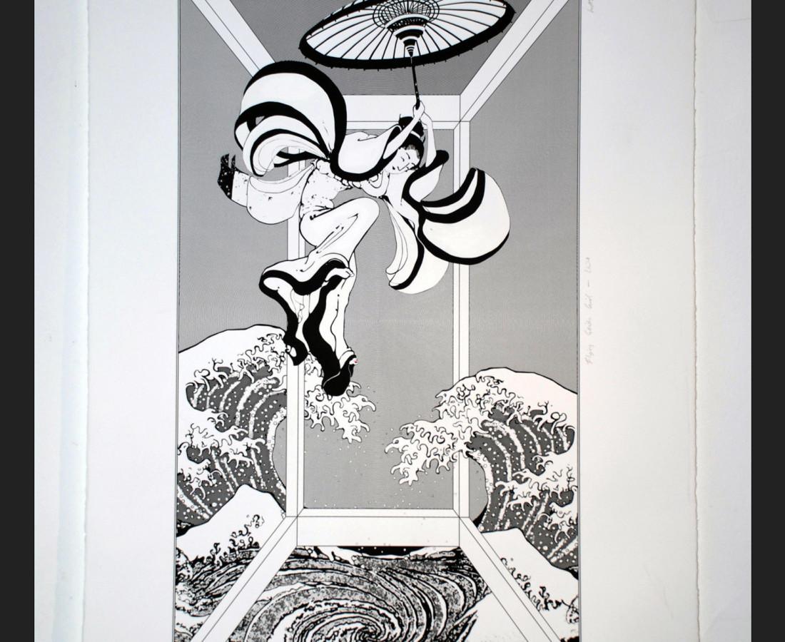 <span class=&#34;artist&#34;><strong>Nicole Wassall</strong></span>, <span class=&#34;title&#34;><em>Flying Geisha Girl - Pure  Geisha</em>, 2014</span>