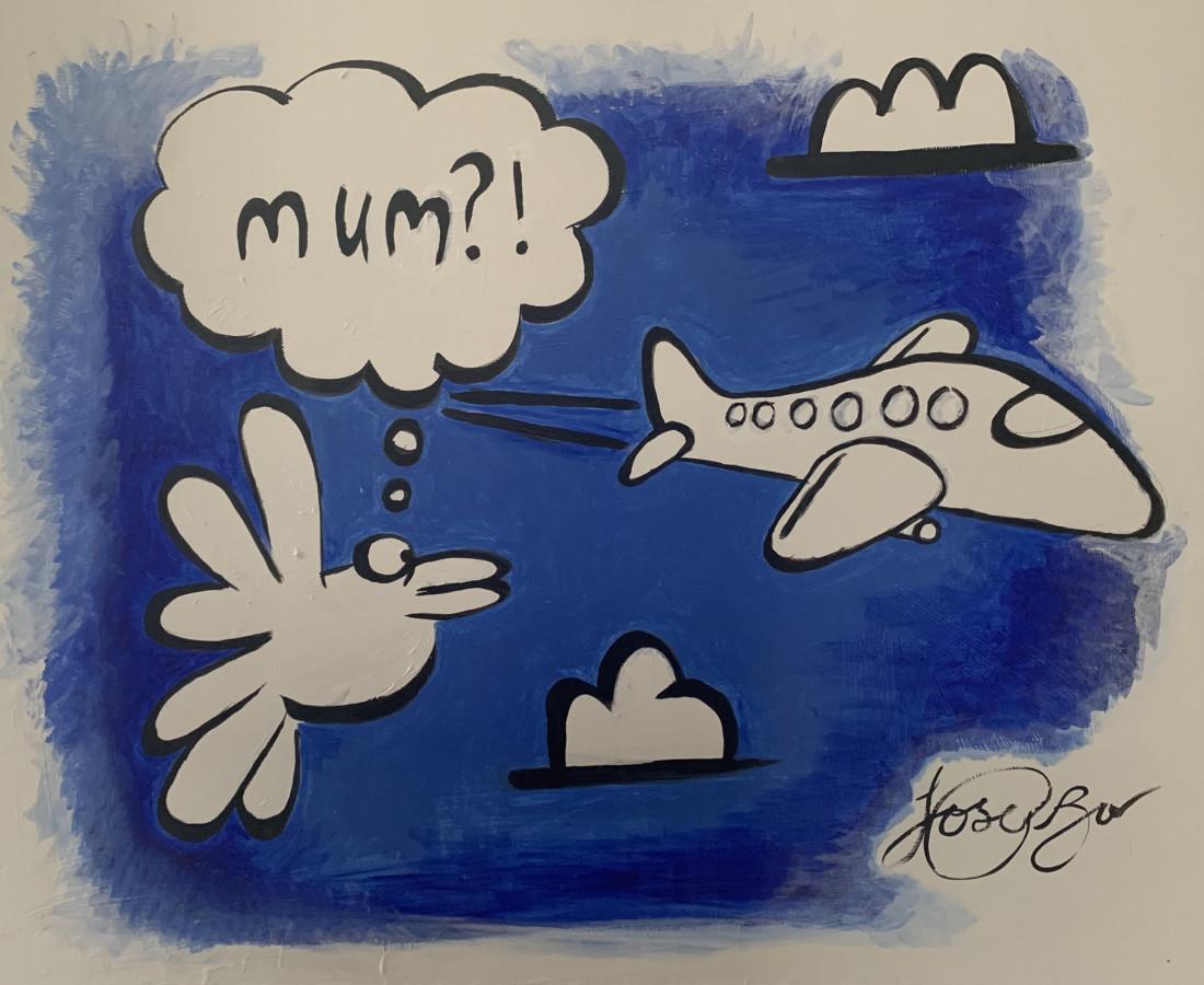 Joe Bor Mum, 2018 Acrylic on canvas 32 x 102 cm 12 5/8 x 40 1/8 in