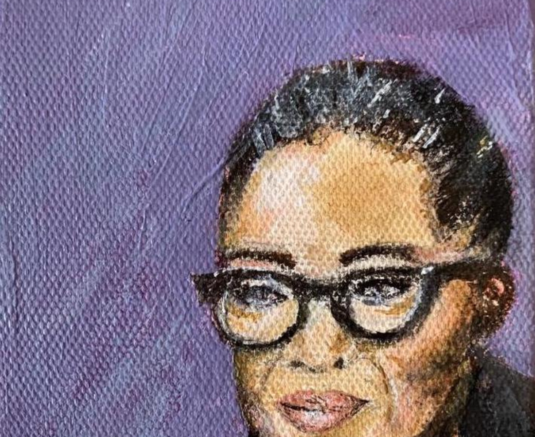 Katy Wix Beloved Oprah, 2019 Acrylic on canvas 12 x 10 cm 4 3/4 x 4 in