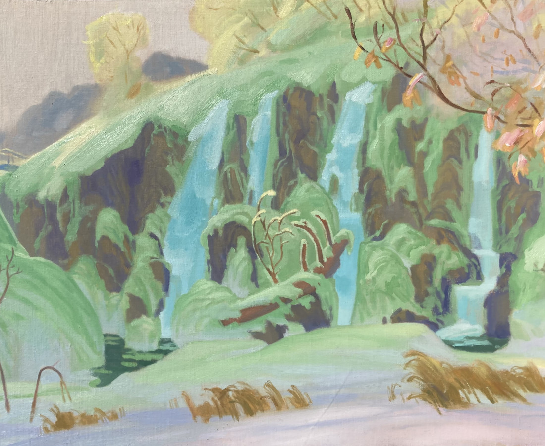 Gabriel Liston, Winter on Rifle Falls, 2021