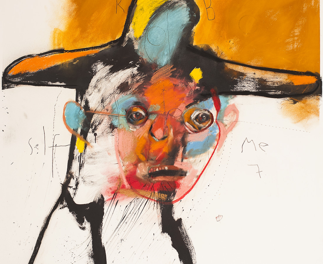 <span class=&#34;artist&#34;><strong>Rick Bartow</strong></span>, <span class=&#34;title&#34;><em>Self in Monet&#8217;s Hat</em>, 2014</span>