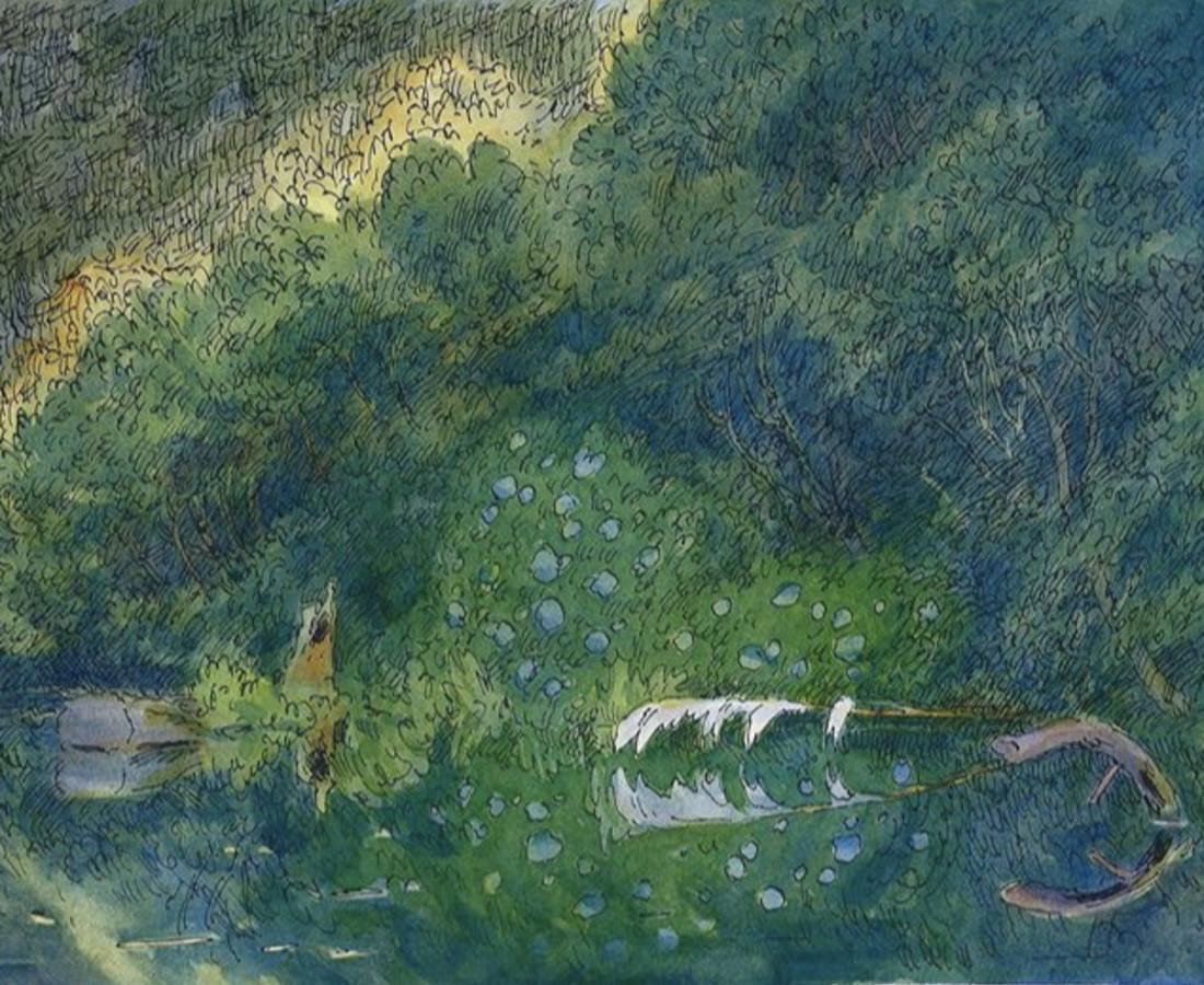 Gabriel Liston, Hydrangeas on Siltcoos, 2020