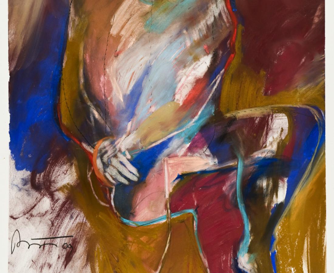 <span class=&#34;artist&#34;><strong>Rick Bartow</strong></span>, <span class=&#34;title&#34;><em>Cowboy Indian Sitting</em>, 2009</span>