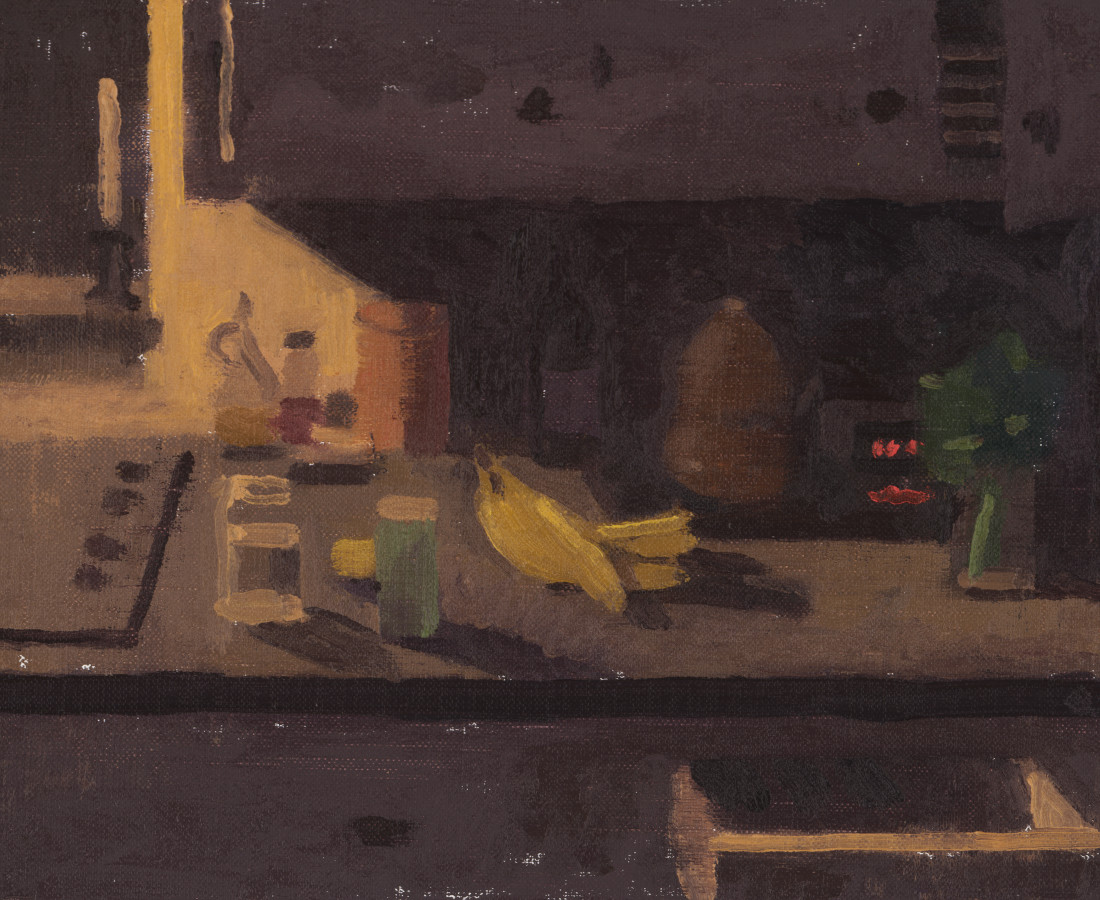 Benny Fountain, Night Kitchen (Stove Light with Parsley), 2020