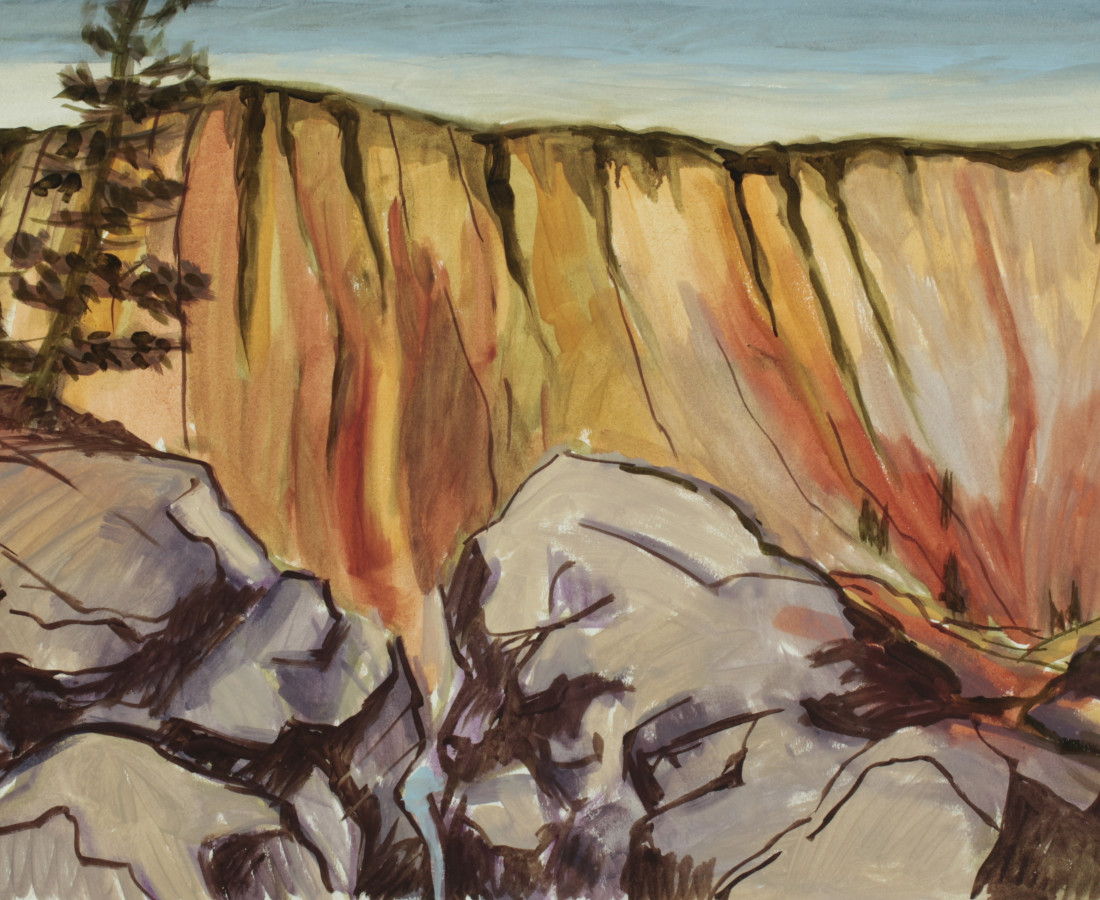 Kay WalkingStick, Yellowstone Canyon II, 2019