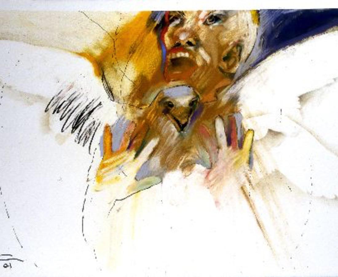 <span class=&#34;artist&#34;><strong>Rick Bartow</strong></span>, <span class=&#34;title&#34;><em>Hawk Chant</em>, 2001</span>
