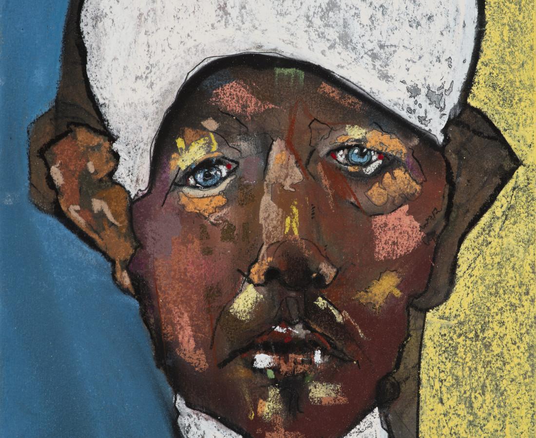 Kris Hargis, Self in white cap, 2020