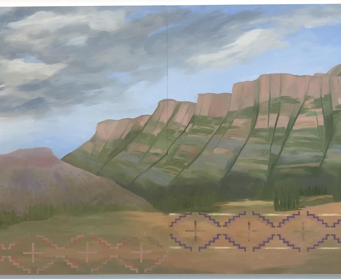 Kay WalkingStick, The Pecos, 2012