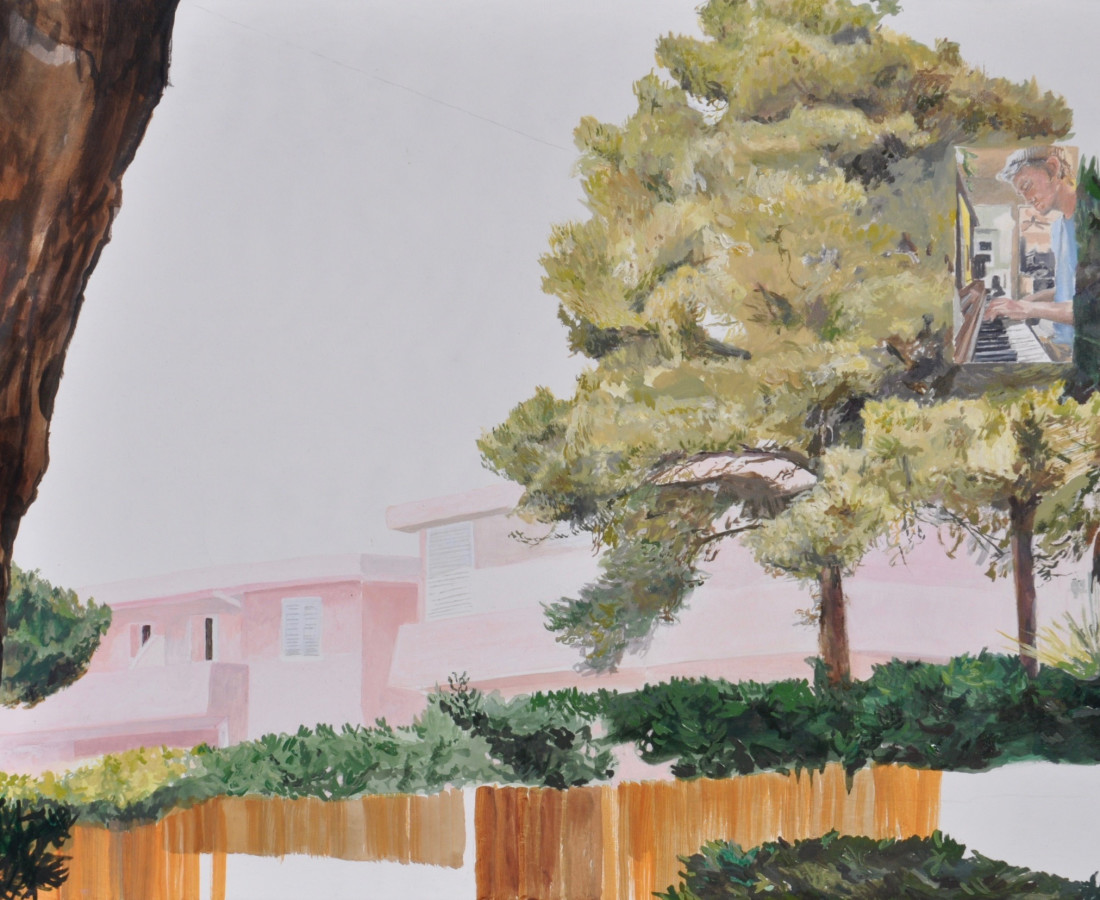 Holly Osborne, Pink House and Taj, 2019