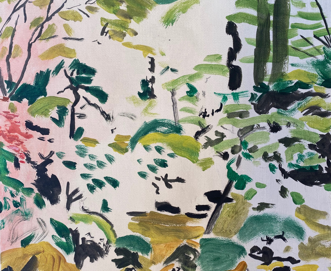 Holly Osborne, Japanese Garden Sketch, 2020