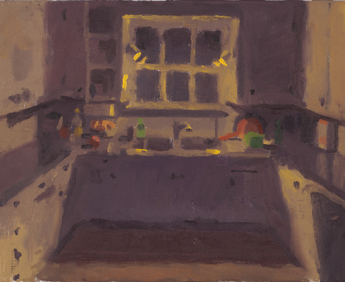 Benny Fountain, Night Kitchen (Sink and Cupboards), 2020
