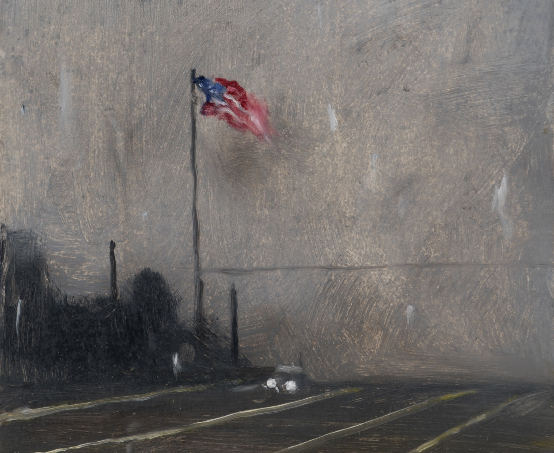 <span class=&#34;artist&#34;><strong>Suzy Murphy</strong></span>, <span class=&#34;title&#34;><em>It's Raining In America</em>, 2017</span>