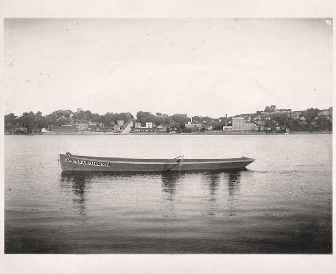 Greg Sand, Traces: Men Boating on River