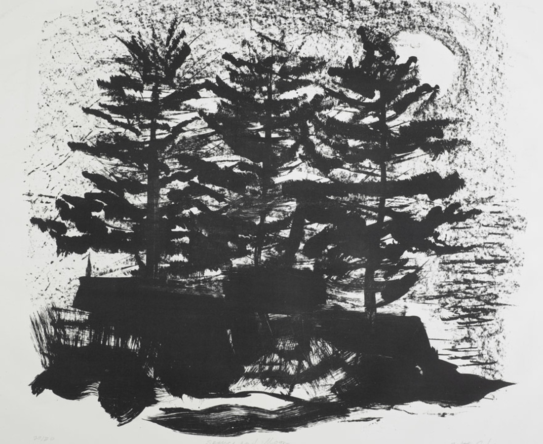 Maltby Sykes (1911 - 1992), Spruce and Moon