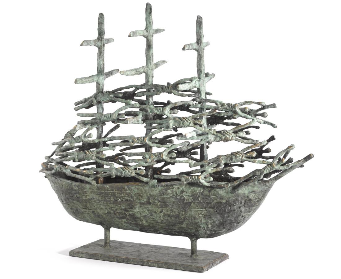 <span class=&#34;artist&#34;><strong>John Behan RHA</strong></span>, <span class=&#34;title&#34;><em>Westport Famine Ship III</em></span>