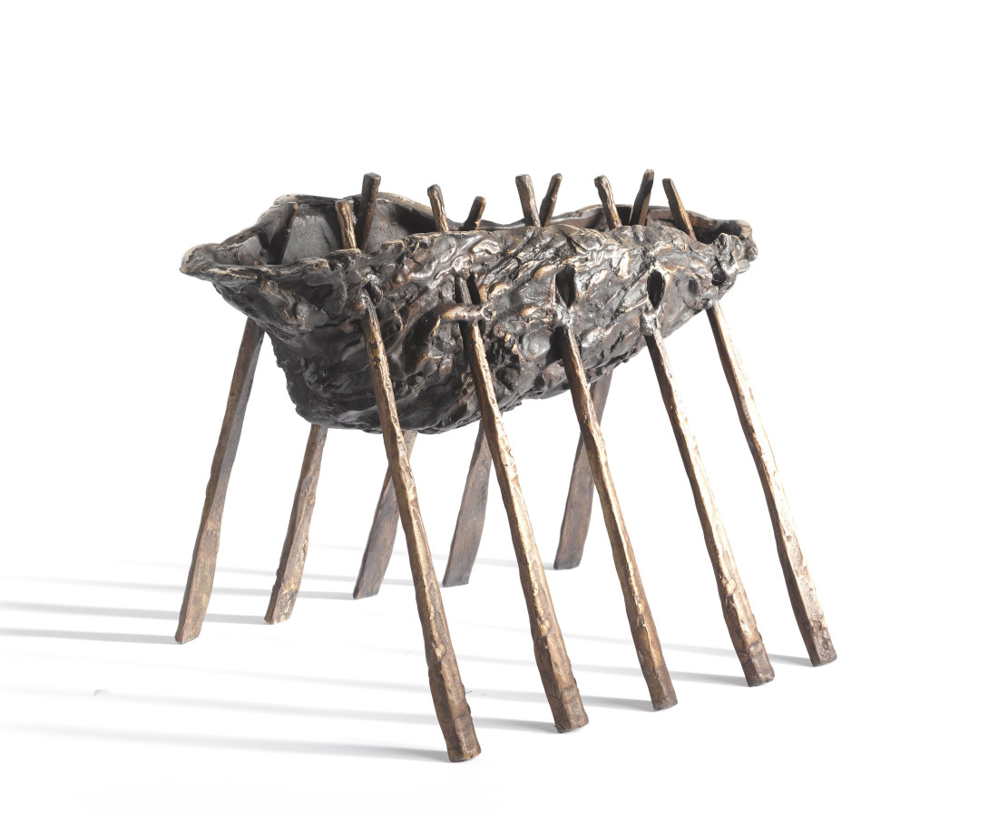 <span class=&#34;artist&#34;><strong>John Behan RHA</strong></span>, <span class=&#34;title&#34;><em>Oyster Shell Oarboat</em></span>