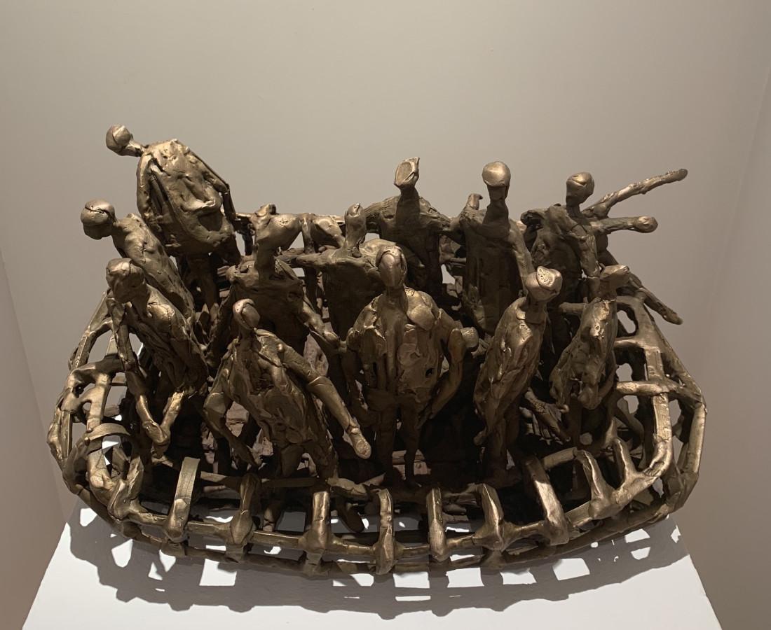 <span class=&#34;artist&#34;><strong>John Behan RHA</strong></span>, <span class=&#34;title&#34;><em>Square Rib Boat, Migrants</em>, 2018</span>