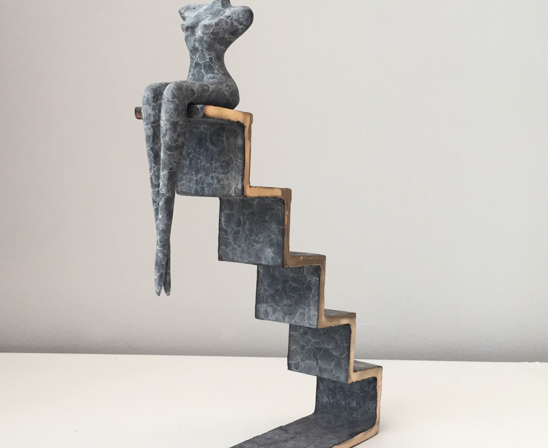 <span class=&#34;artist&#34;><strong>Orla de Br&#237;</strong></span>, <span class=&#34;title&#34;><em>Steps</em></span>