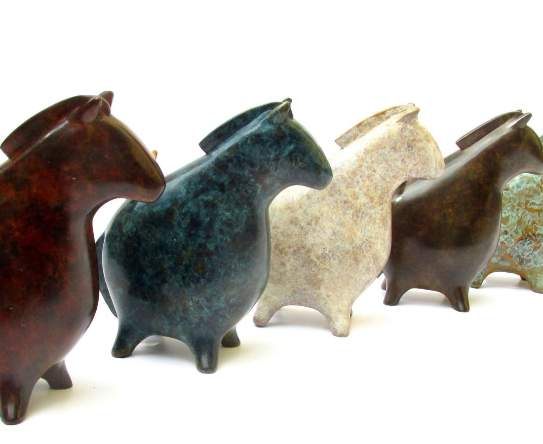 Stephanie Hess, Pilgrim Herd (blue)