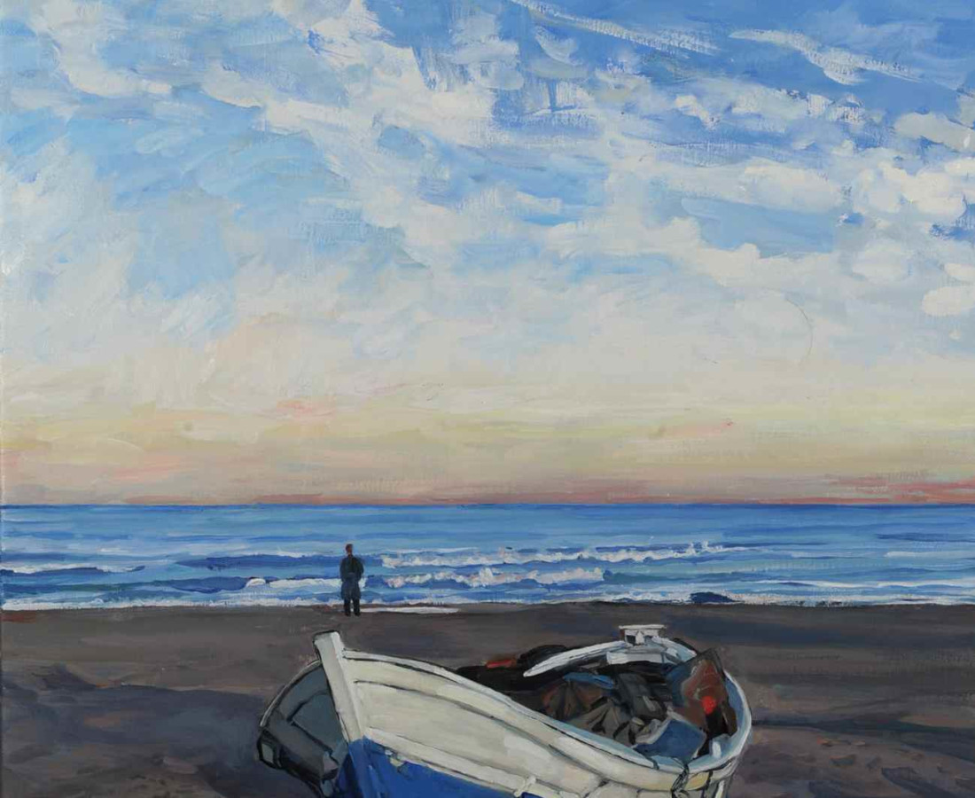 <span class=&#34;artist&#34;><strong>Hector McDonnell RUA</strong></span>, <span class=&#34;title&#34;><em>Fishing Boat on Beach, Valencia</em></span>