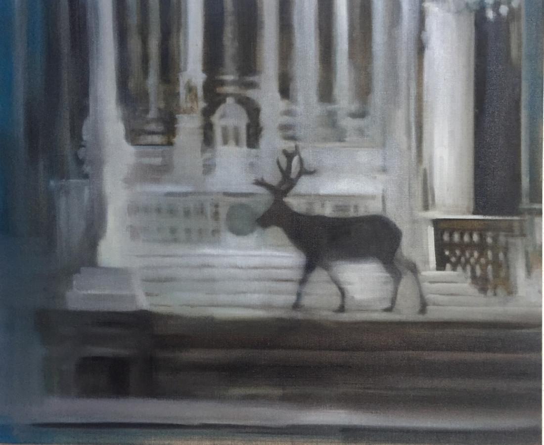 <span class=&#34;artist&#34;><strong>Helen O'Sullivan-Tyrrell</strong></span>, <span class=&#34;title&#34;><em>Le Cerf Dans l&#8217;&#201;glise de Saint-Eustache</em></span>
