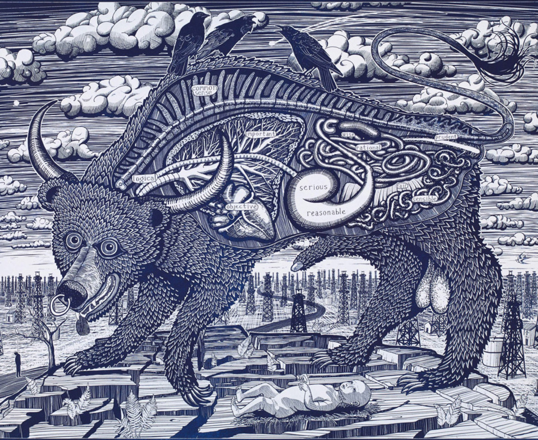 Grayson Perry, Animal Spirit (blue), 2016