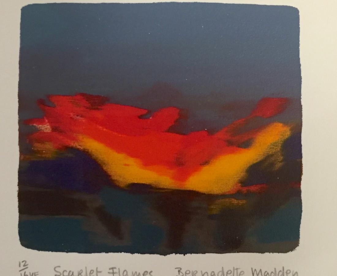<span class=&#34;artist&#34;><strong>Bernadette Madden</strong></span>, <span class=&#34;title&#34;><em>Scarlet Flames</em></span>