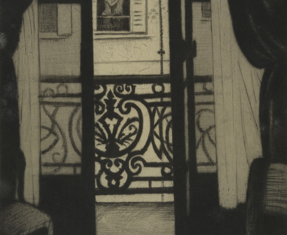 Christopher R. W. Nevinson, From a Paris Window, 1922