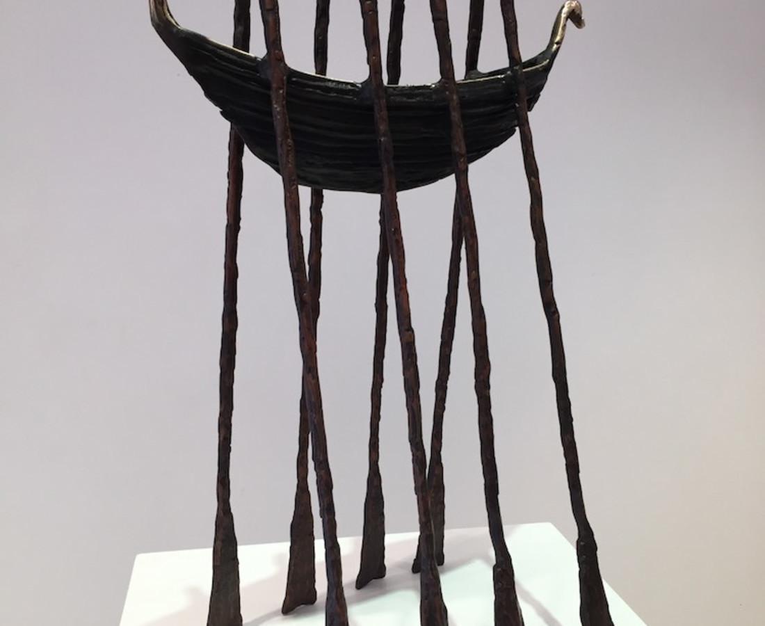 <span class=&#34;artist&#34;><strong>John Behan RHA</strong></span>, <span class=&#34;title&#34;><em>Swan Neck Oar Boat</em></span>