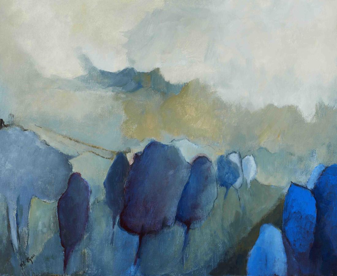 <span class=&#34;artist&#34;><strong>Margaret Egan</strong></span>, <span class=&#34;title&#34;><em>Blue Trees</em></span>