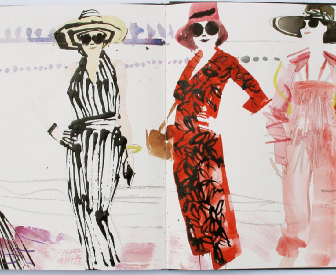 <span class=&#34;artist&#34;><strong>John Short</strong></span>, <span class=&#34;title&#34;><em>Women on beach, Qinhuangdao (China sketchbook)</em></span>
