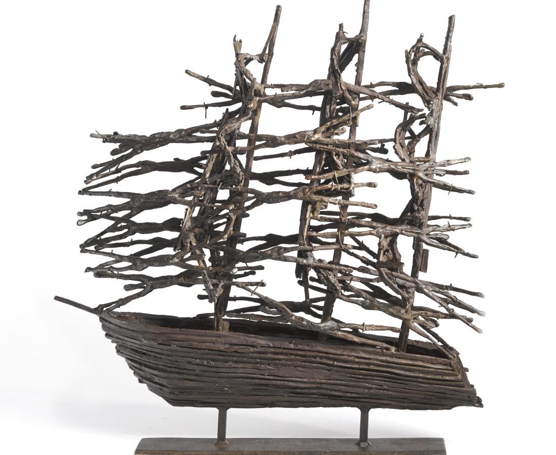 <span class=&#34;artist&#34;><strong>John Behan RHA</strong></span>, <span class=&#34;title&#34;><em>L.T. Famine Ship</em></span>