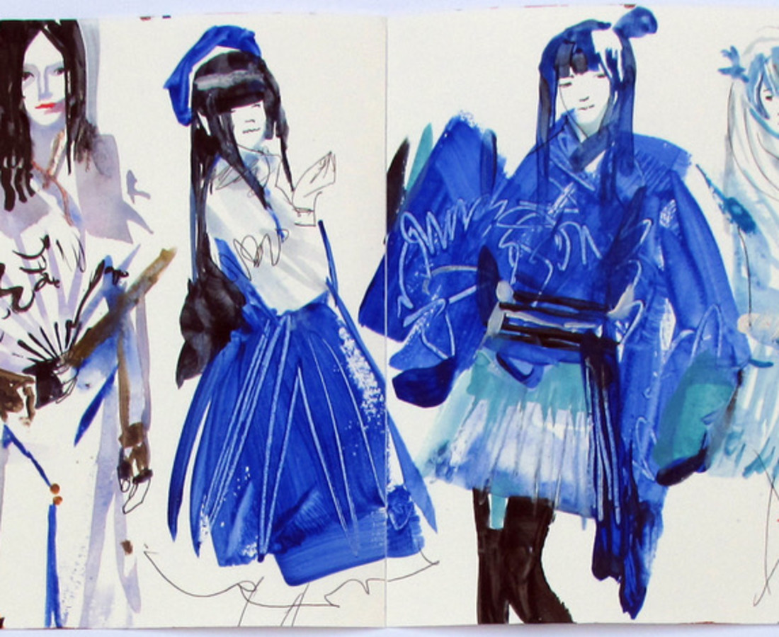 <span class=&#34;artist&#34;><strong>John Short</strong></span>, <span class=&#34;title&#34;><em>Cosplay group, Beijing (China sketchbook)</em></span>