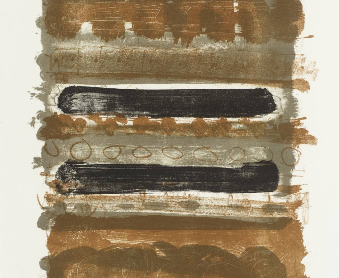 Patrick Heron, Grey and Brown Stripes, 1958
