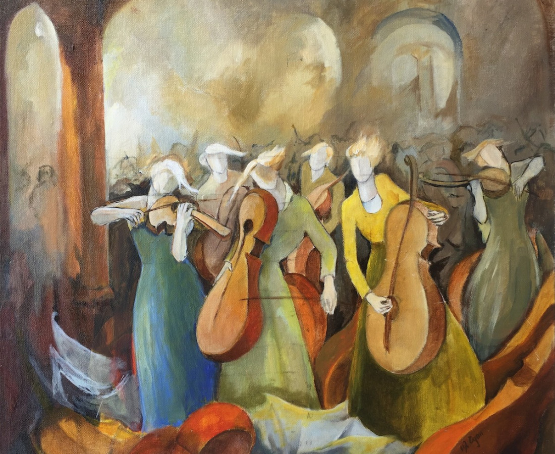 """Margaret Egan, Sketch for """"Movement of Sound"""""""