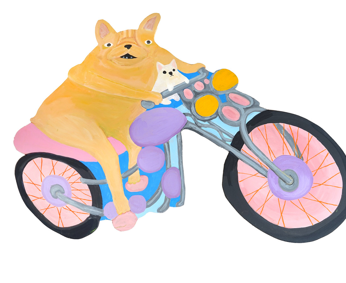 <span class=&#34;artist&#34;><strong>Katie Kimmel</strong></span>, <span class=&#34;title&#34;><em>Motorcycle Dogs</em>, 2019</span>